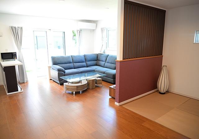 畳スペース&リビング
