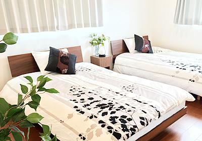 沖縄コテージのベッドルーム